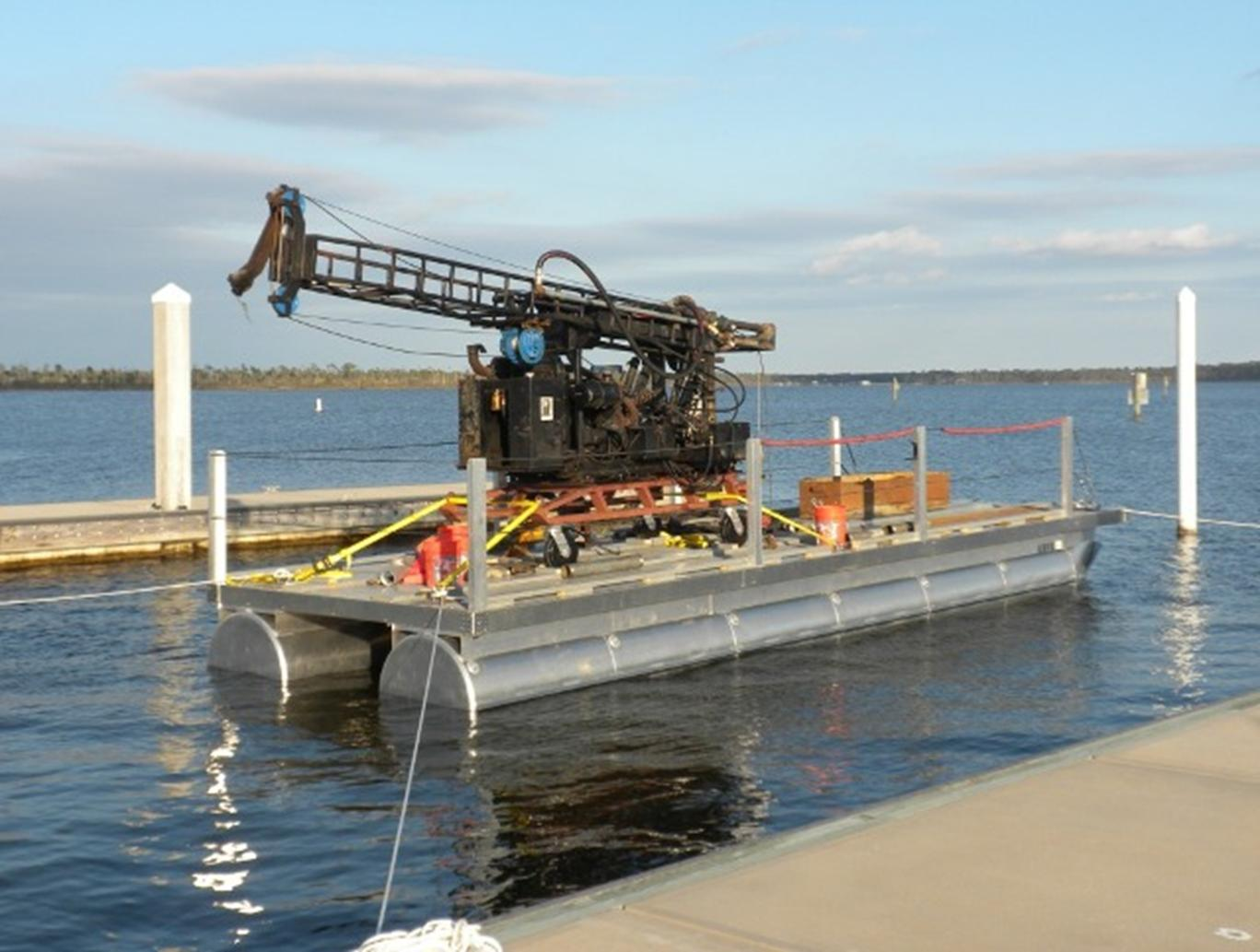 40-Foot Pontoon Barge with Diedrich D-50